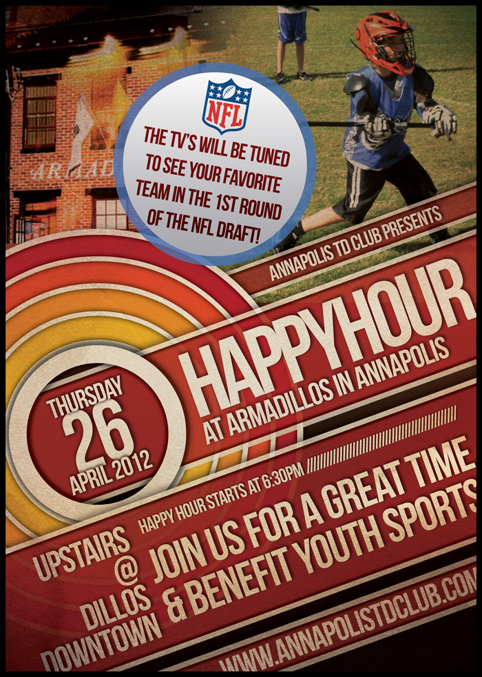 Draft Night Happy Hour Thursday April 26th at Armadillo's