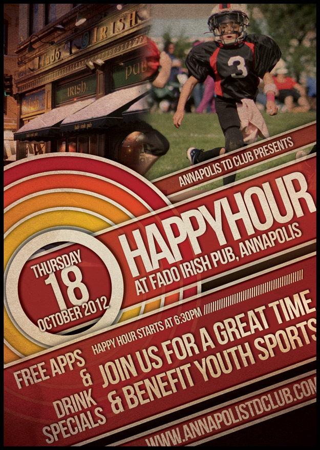 Happy Hour. Thursday, Oct. 18th at Fado's in Annapolis
