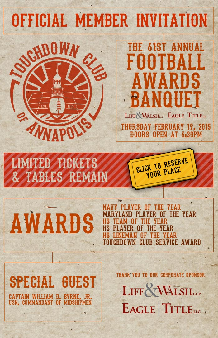 2015 Banquet February 19th at DoubleTree Annapolis